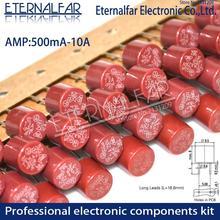 Круглый предохранитель T0.5A T0.8A T1A T2.5A T3.15A T4A T5A T6.3A T8A T10A 250V 382 Пластик T2A ЖК-дисплей ТВ Мощность доска обычно фильтр для очистки воды