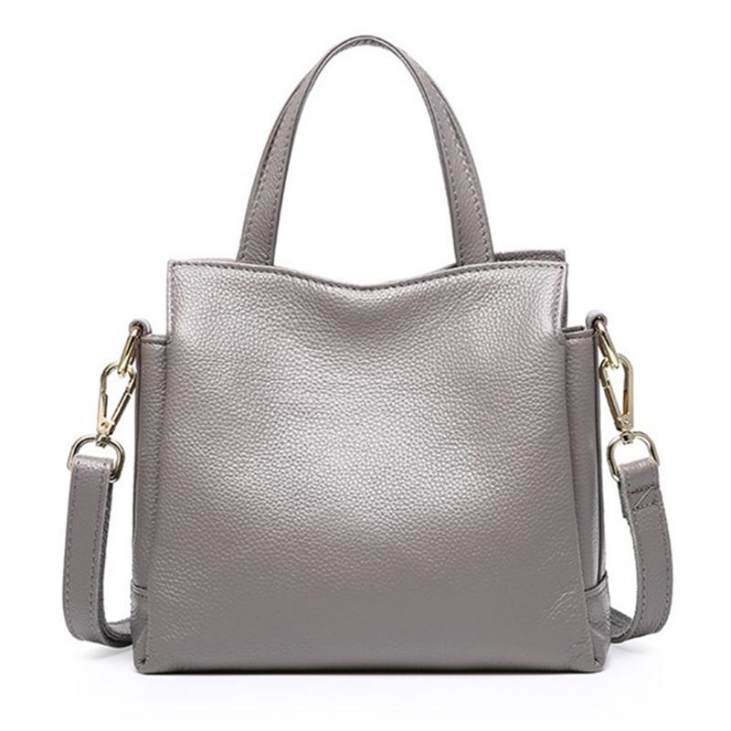 New Summer Leisure Fashion Handbags Genuine Cow Leather 3 layer Women's Tote Bag Small Brand Design Shoulder Messenger bags