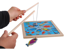 Brain Game Fishing Puzzles for children Wood Fishing Toys with fishing rod Outdoor Fun & Sports Learning & Education GH233