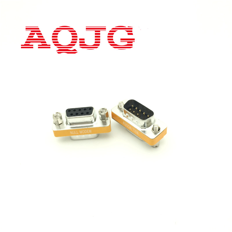 New Female to Female DB9 9Pin Gender Changer Convertor Male to Male DB9 Cross adapter Oranger Null modem Mini new female 100