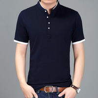 2018 New T Shirt Men Slim Solid Color Fitness Casual Tops 100 Cotton Tshirts Comfortable High