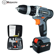 21V drill multi-function electric screwdriver rechargeable household electric drill power tool Mini drill+13 gift+tool bag