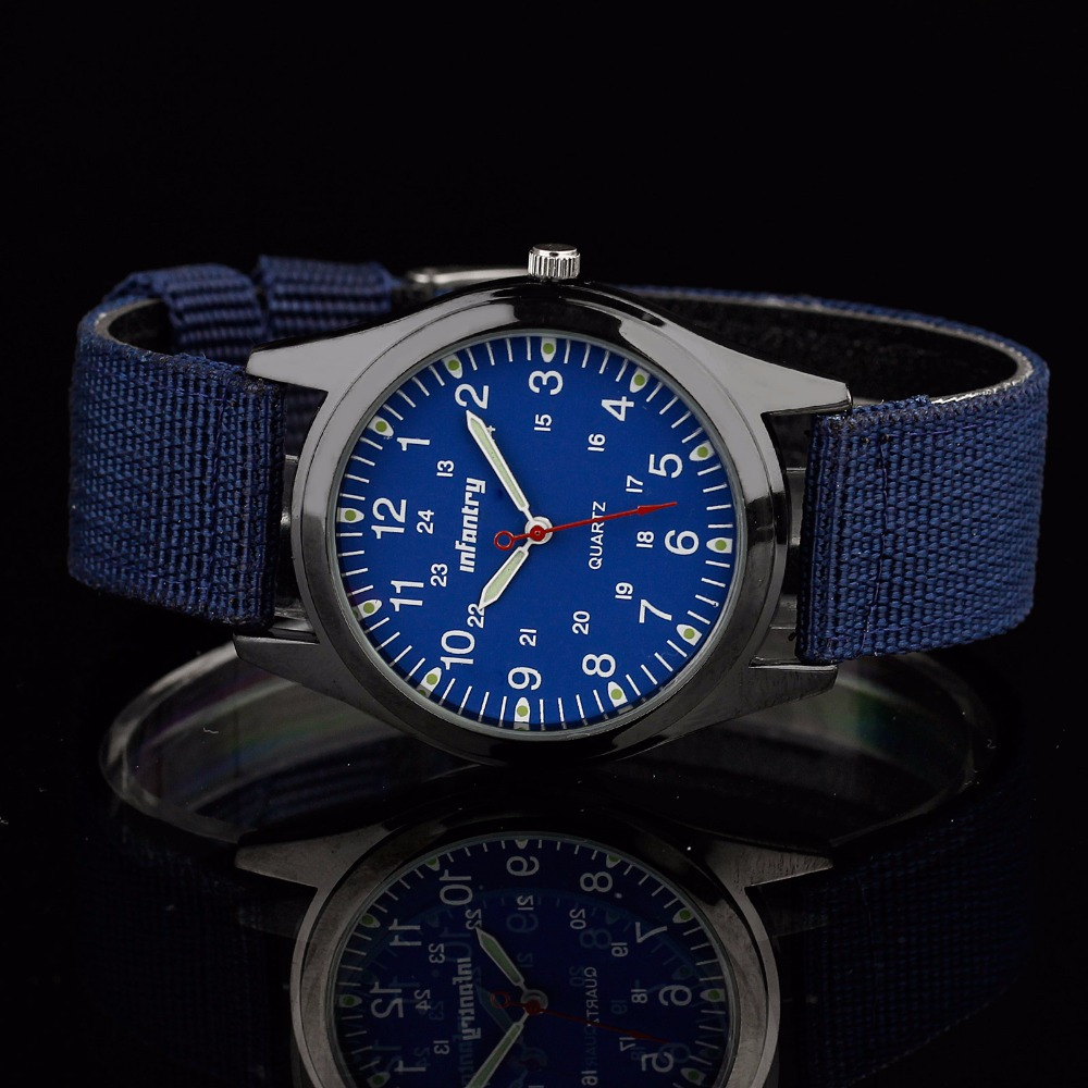 aliexpress com buy infantry mens watches military brand tactical aliexpress com buy infantry mens watches military brand tactical quartz sports watches blue ultra thin nylon strap luminous watch relojes clock men from