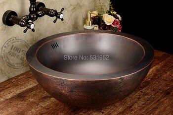 Free Shipping Fashion wash basin, Bronze Basin, Handmade Copper Sink,Antique Basin,Brass Countertop Wholesale