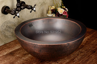 Free Shipping Fashion wash basin, Bronze Basin, Handmade Copper Sink,Antique Bronze Basin,Brass Countertop Basin, Wholesale