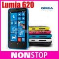 Doble núcleo original de nokia lumia 620 5mp wifi 3.8 pulgadas de gps sistema operativo windows 8 gb de memoria interna ram 512 desbloqueado