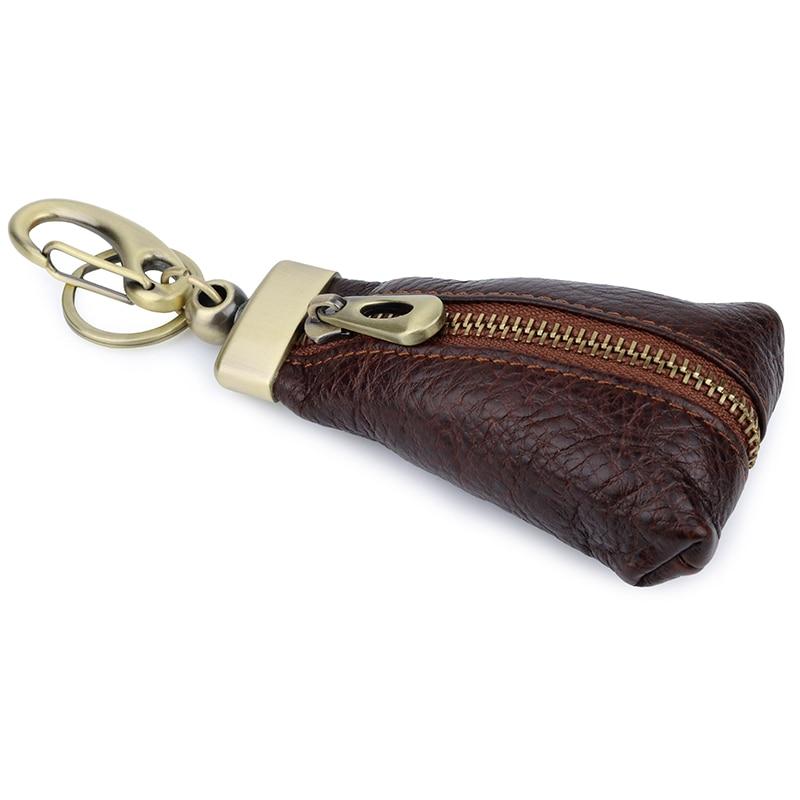 2019 Brand New design organized High Quality Genuine Leather Key Smart Wallet DIY Car Keychain EDC Pocket Key Holder Keys in Key Wallets from Luggage Bags