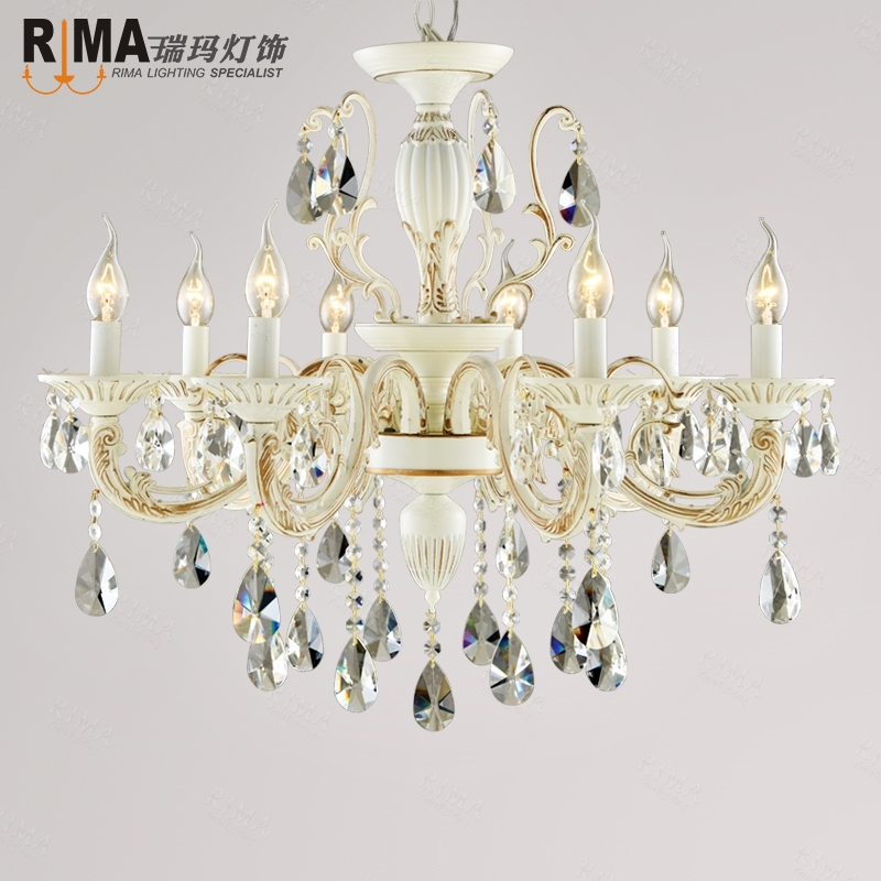 ФОТО hand-made painting white crystal chandeliers candle lights for weddings and home decoration