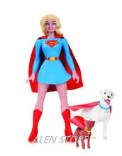 ALEN DC COMICS Designer Series Darwyn Cooke Batman Supergirl Harley Quinn PVC Action Figure Collection Model Toys 17cm(China)