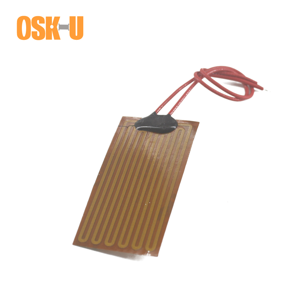 5V Flexible Polyimide Film Heater 0.15-0.3mm Thickness Electric Heating Element Anti-freezing Heating Film For Instrumentation