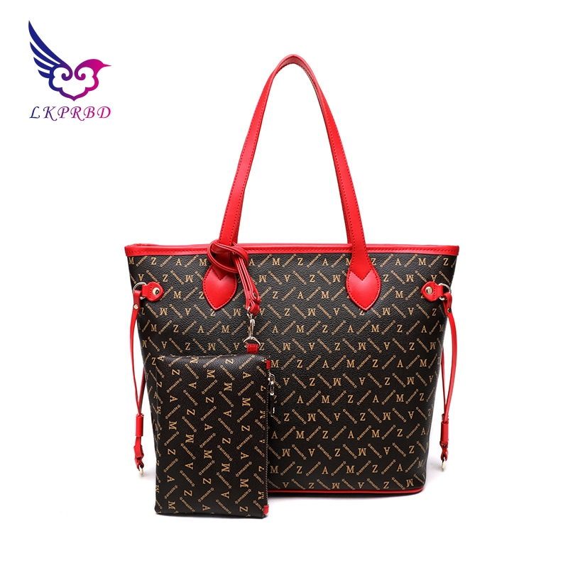Leather high-quality design handbag Europe and the United States fashion new Tote bag Mummy shopping bag shoulder bag fashion europe style high quality brass