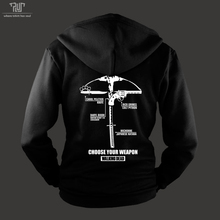 walking dead choose weapon men unisex hoodie pullover sweatshirts 360gsm 82% cotton fleece inside high quality free shipping