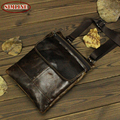 Vintage 100% Genuine Leather Real Cowhide Men Mutli Function Small Messenger Bag Shoulder Cross Body Bag Wasit Pack Bags For Man
