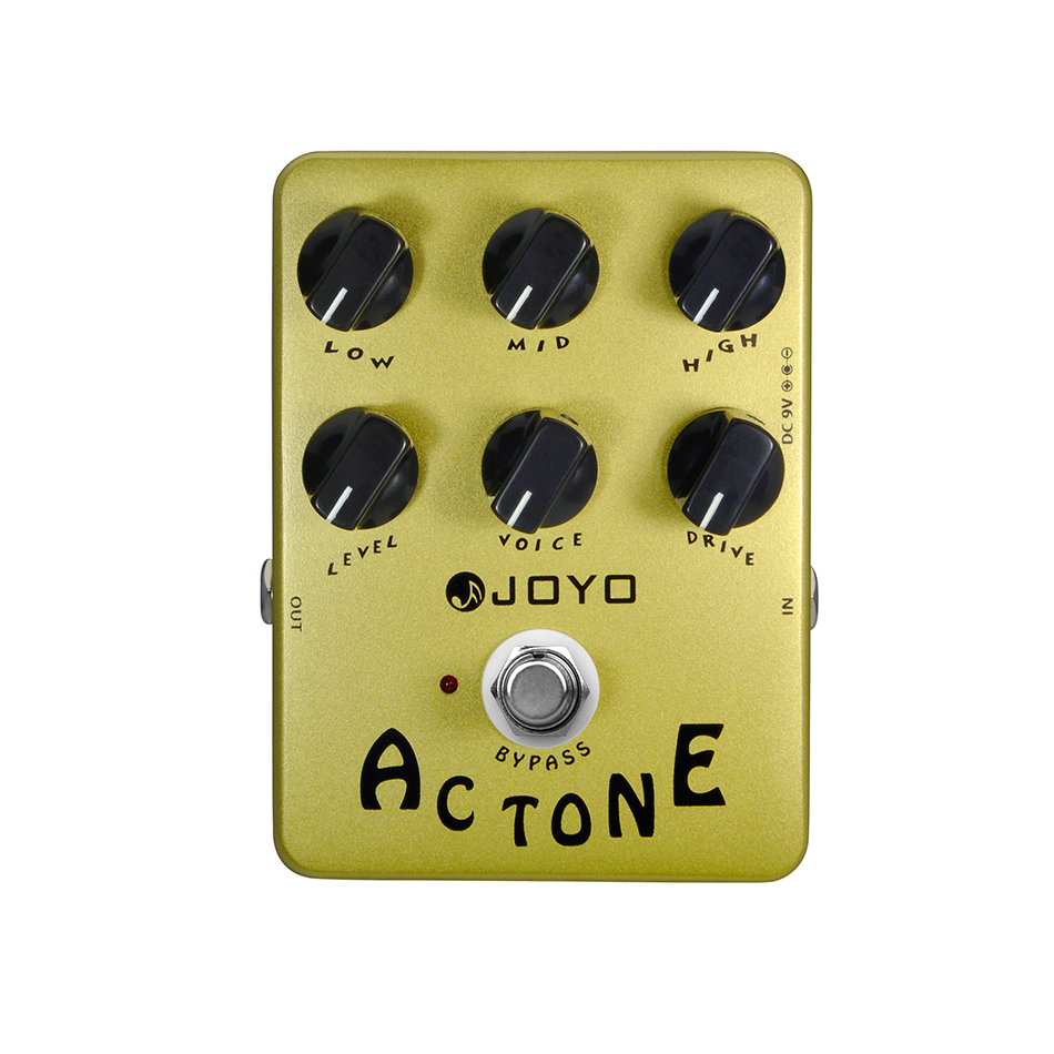 Joyo JF-13 AC Tone Electric Guitar Effects Pedal Classic British Rock Sound Vox AV-30 Tone AMP Simulation Guitar Effect Stompbox стоимость