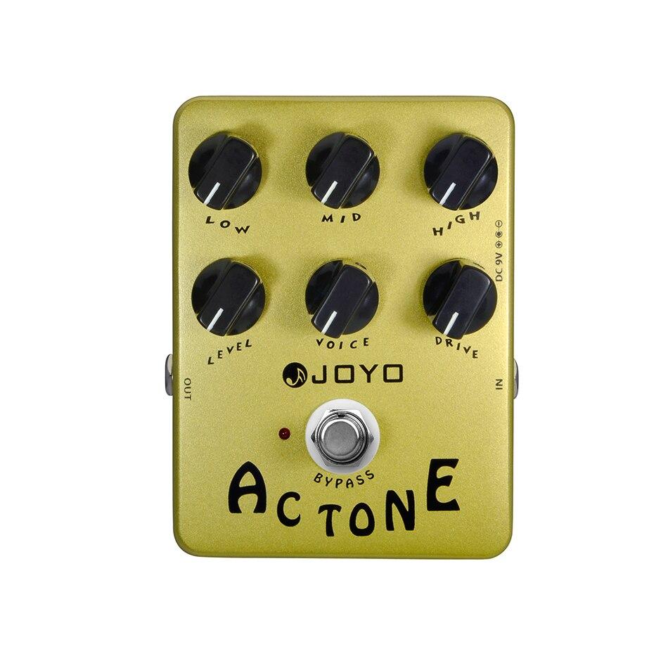 Joyo JF-13 AC Tone Electric Guitar Effects Pedal Classic British Rock Sound Vox AV-30 Tone AMP Simulation Guitar Effect Stompbox