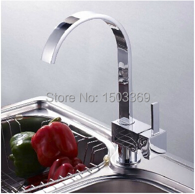 ФОТО high quality  brass material  chrome hot and cold single lever  kitchen sink basin faucet tap mixer