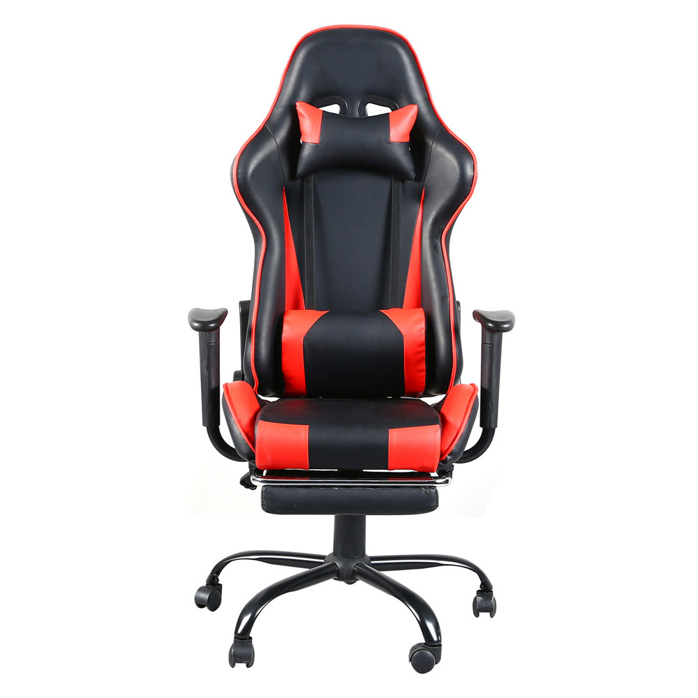 T-type Reclining Chair Racing Gaming Chair Office Chair With Footrest Tier Black & Red