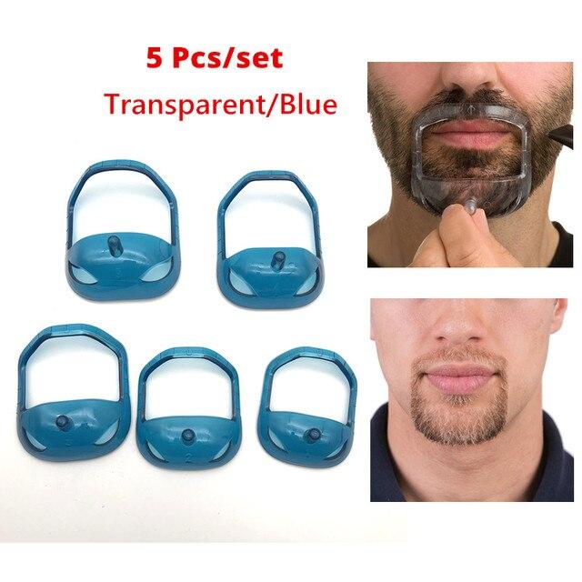 Hot 5 Pcs Set Fashion Goatee Shaping Template Mustache Beard