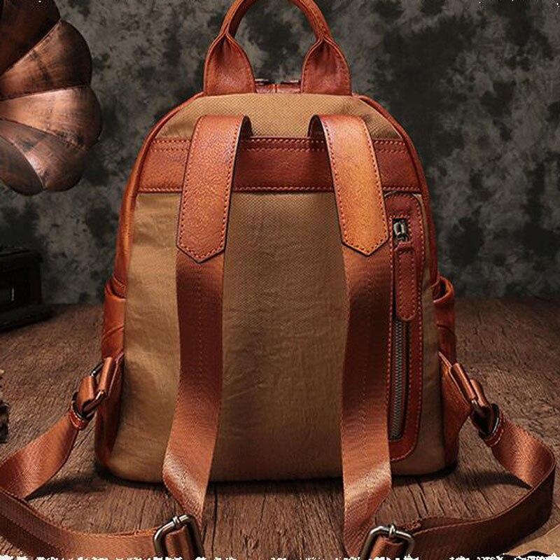 1 Aetoo Retro Weibliche Hand Rucksack Leder Neue Wilden Freizeit bonbonfarbenen Umhängetasche Weiblichen Reisetasche wxB7gAnx