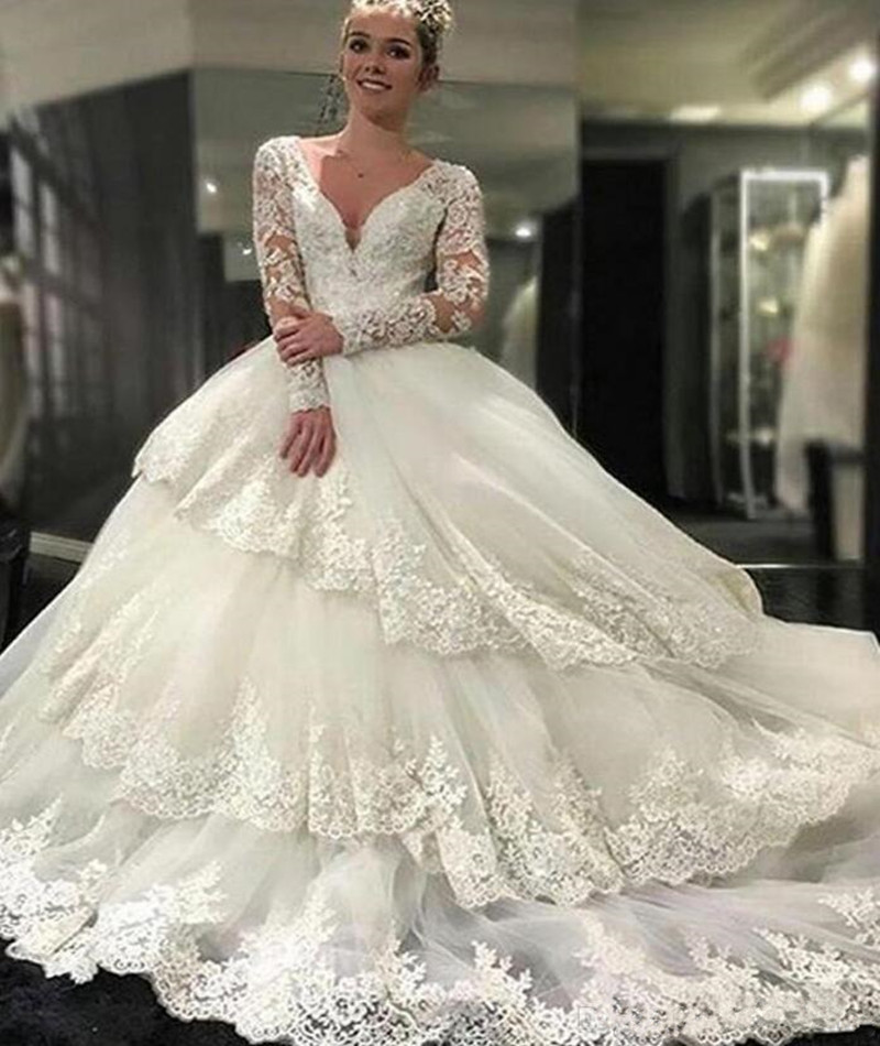 Weddings & Events Lovely Yunuo 2019 Satin Ball Gown African Wedding Dresses Off The Shoulder Bridal Gowns Long Train Gorgeous Wedding Reception