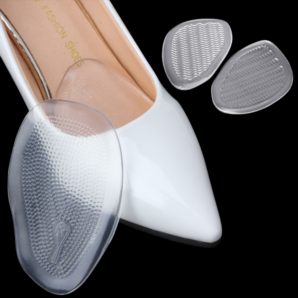 2 Pairs Gel Forefoot Pads For High Heels Pain Relief Anti-slip Elastic Cushion  High Quality