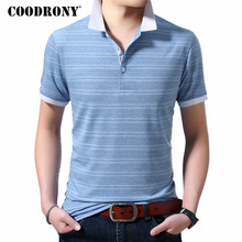 COODRONY Cotton T Shirt Men Clothing 2019 Spring Summer Casual Short Sleeve T-Shirt Plus Size Turn-down Collar Tshirt S95118