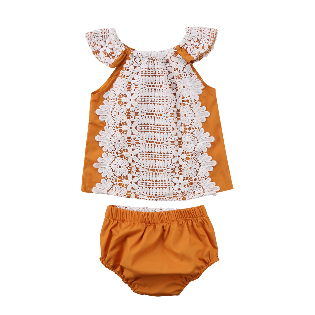 Cute Newborn Baby Girls clothes Fashion Lace Floral short ...