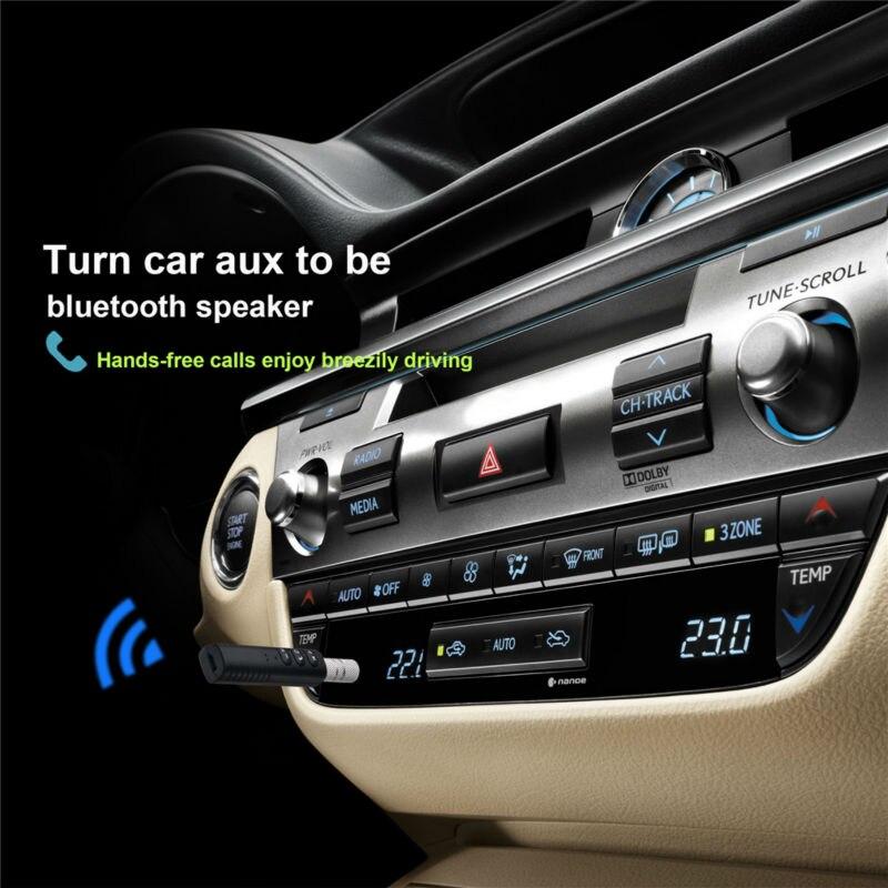 Black Handsfree Wireless AUX Car Bluetooth Receiver