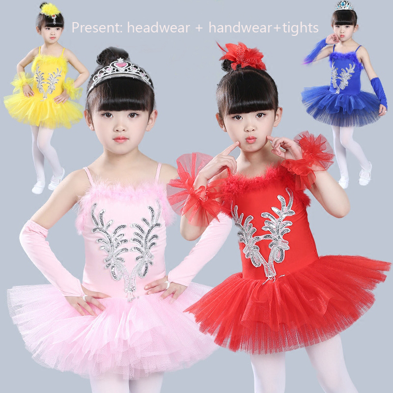 Cheap Ballet Dress Children Girl Dance Clothes Ballerina Dresses Kids Swan Lake Ballet Tutu Costume Stage Performance Dancewear