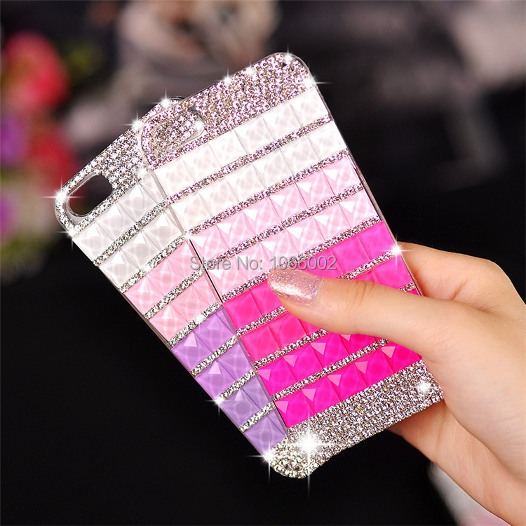 Gradient Bling Diamond DIY Crystal Capa Cases iPhone 7 Plus 6 6S 5s 5 Samsung galaxy S7 Edge S6 S5 note 4 3 - Gizmo Gallary store