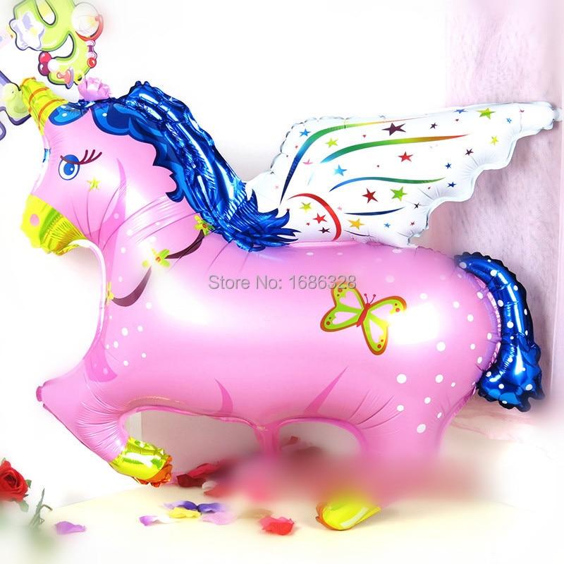 104 cm gran caballo volador helio globos Foil cumpleaos fiesta