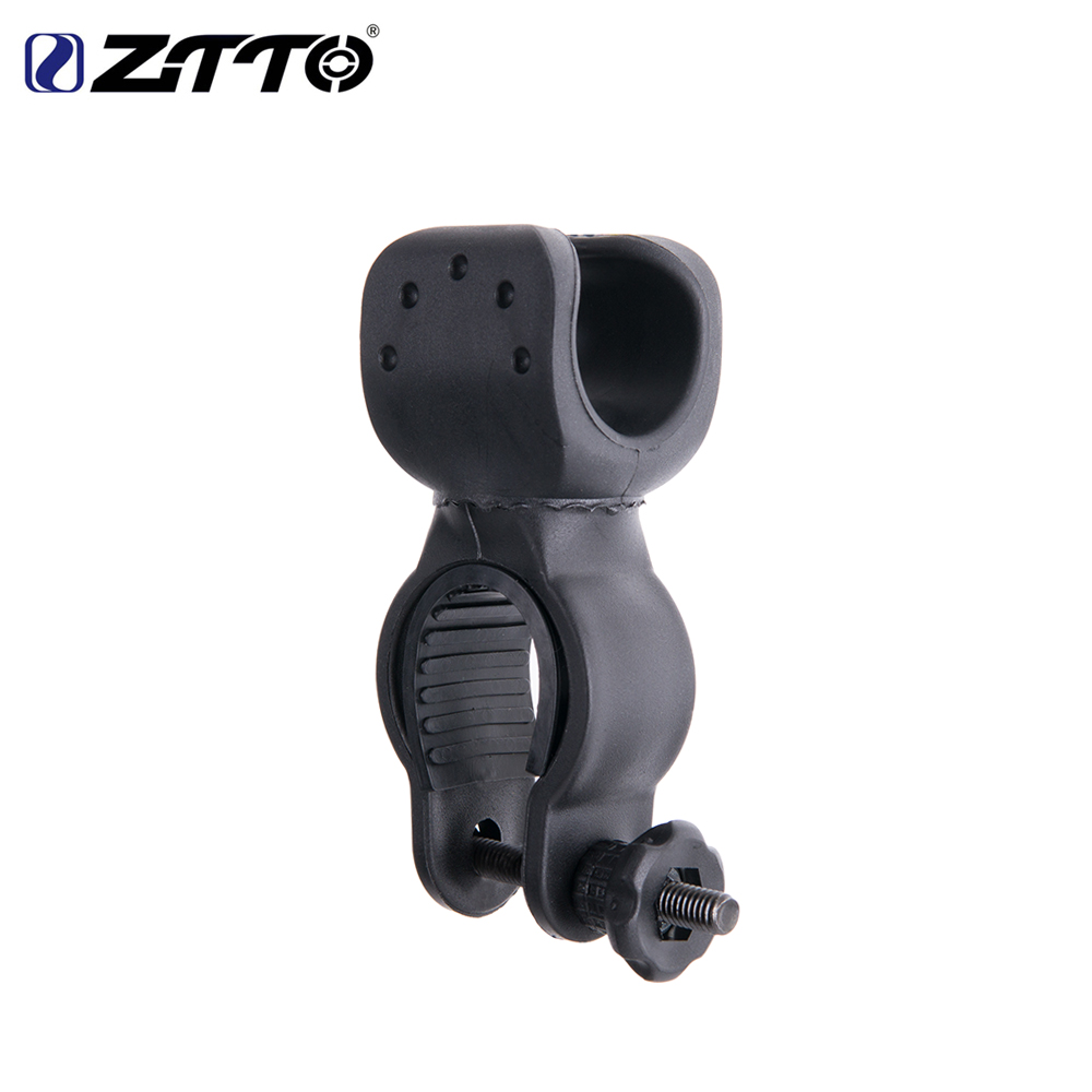 ZTTO Bicycle Light Holder Front Flash Light Bracket LED Torch Holder For Road Bike MTB Bicycle Parts Adjusted 360 Degrees Swivel