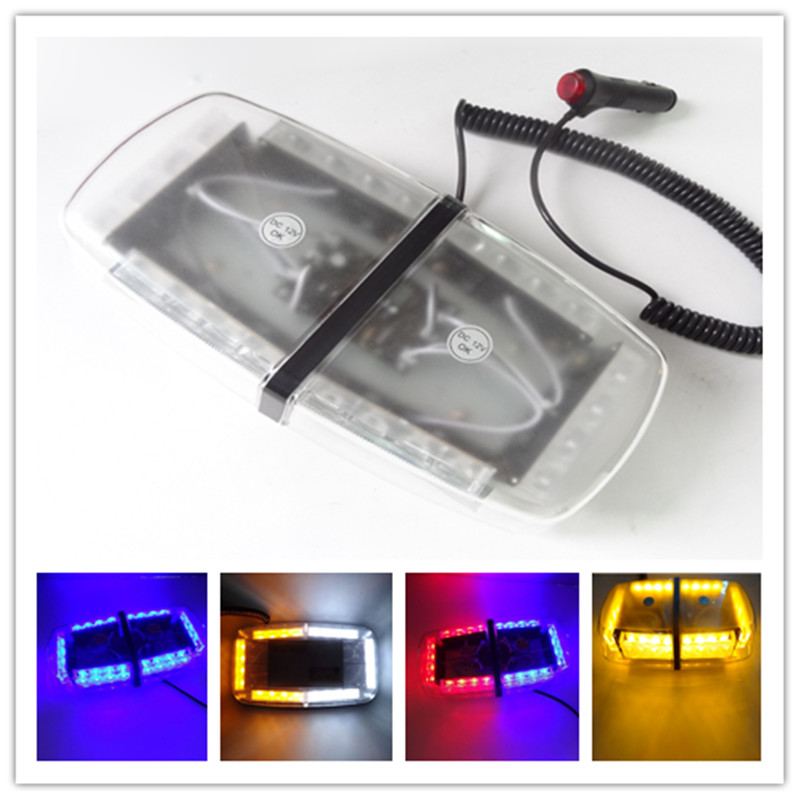1PCS 12V 24 LED Amber Emergency Hazard Warning Flash Flashing Car Styling Truck LED Top Roof Bar Strobe Light Yellow White Blue bright amber 24 led strobe light warning emergency flashing car truck construction car vehicle safety 7 flash modes 12v