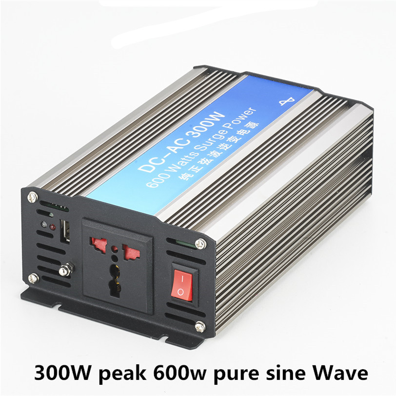 цена на Smart Pure Sine Wave Inverter 300W CLP300A DC 12V 24V 48V to AC 110V 220V Smart Series Solar Power 300W Surge Power 600W