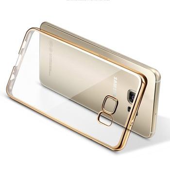 For Samsung Galaxy A3 A5 A7 2016 A310 A510 J5 J7 Grand Prime S5 S6 S7 Edge Cover Case Plating Frame TPU Silicone Soft Fundas