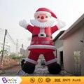 Entrega gratuita nflatable juguete inflable decoraciones de navidad de santa claus para la promoción