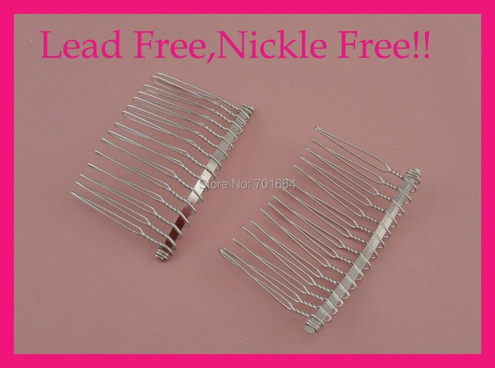 ᓂ20 unids plata acabado 15 metal liso pelo Peines en plomo y níquel ...