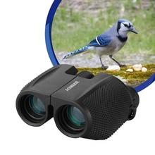 AOMEKIE 10X25 Porro Binoculars HD Optical Glass FMC Lens Telescope for Outdoor Camping Hunting Bird Watching Compact Size aomekie 12x25 binoculars compact high power bak4 prism fmc porro telescope for outdoor hunting birdwatching sport black camo