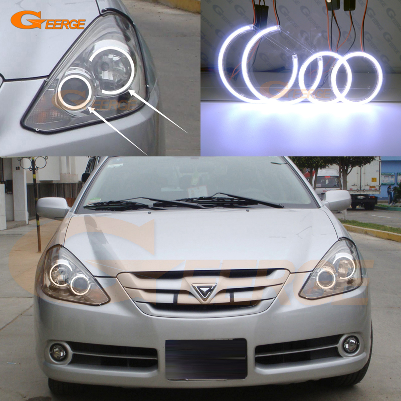 For Toyota Caldina 2005 2006 2007 Xenon headlight Excellent Ultra bright illumination COB led angel eyes kit halo rings for alfa romeo 147 2005 2006 2007 2008 2009 2010 headlight ultra bright illumination cob led angel eyes kit halo rings