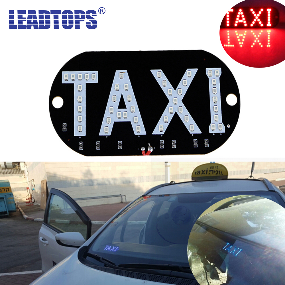 LEADTOPS 1pc/lot Taxi Led Car Windscreen Cab indicator Lamp Sign Blue LED Windshield Taxi Light Lamp 12V BA 45smd led white blue green red yellow car auto cab sign top light vehicles windscreen white led lamp dc 12v taxi light