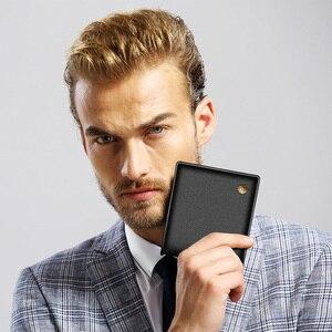 Image 5 - LAORENTOU עור ארנקים גברים עור אמיתי גברים של קצר ארנק עם רוכסן כיס Mens סטנדרטי ארנק מחזיקי כרטיס אשראי