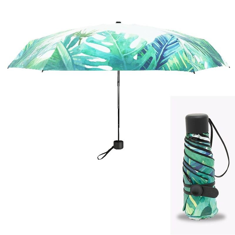 New Small Fashion Folding Umbrella Rain Women Gift Men Mini Pocket Parasol Girls Anti-UV Waterproof Portable Travel UMBRELLAS