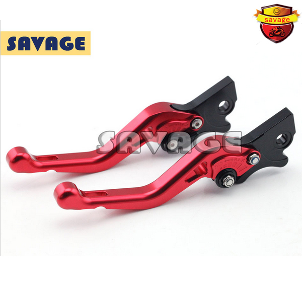 ФОТО Motorcycle CNC Billet Aluminum Short Brake Clutch Levers For GILERA Runner 200 2003-2008 Red