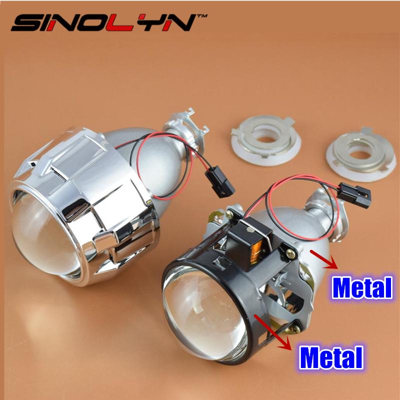 Prix pour Mise à niveau Full Metal 2.5 Pro HID Bi xénon Projecteur Lentille de Phare H1 H4 H7 LHD RHD Utilisation H1 Ampoule Xénon Voiture Style Phare Lentilles