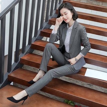 Nouveau Élégant Pants suits Skirts suits Automne Salopette Slim Costume 2018 Pants Femmes Professionnel And Deux Suits Mode Ensemble Tempérament De Printemps Sauvage pièce UUwIqAvg