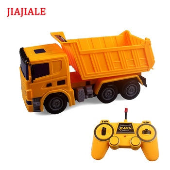 JIAJIALE RC truck remote control tractor carro excavator voiture Engineering Dump Mixer model car toys for boys children kids