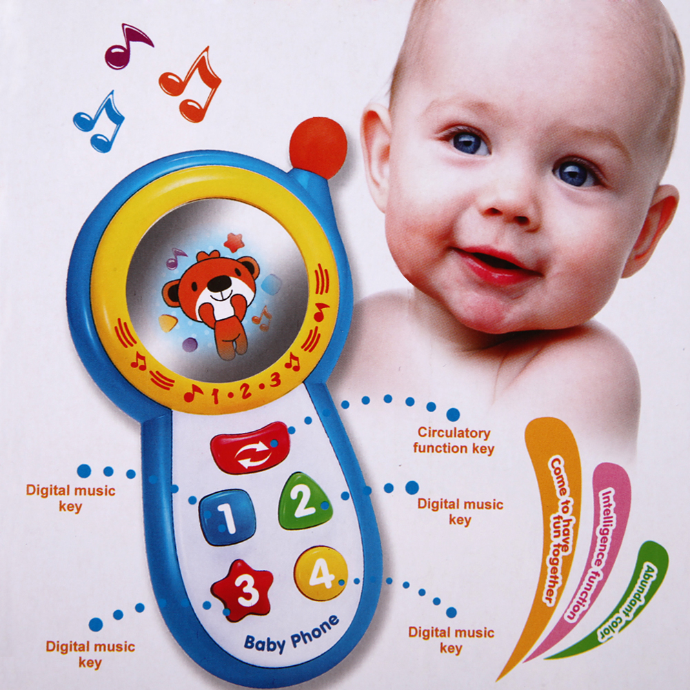 Baby Musical Phone Toys Kids Learning Study Musical Sound Cell Phone Toys for Children Newbrons Baby Children's Phone Toy image