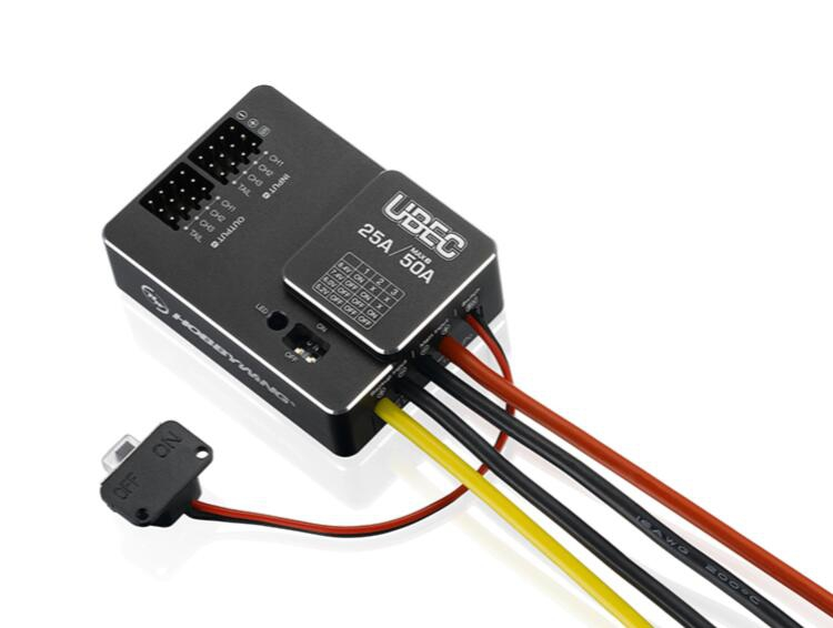 hobbywing ubec 25a hv 3 18 s modulo 25a interruptor externo para diy fpv mini corrida