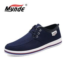 Mynde 2018 New canvas Breathable Men's Shoes Men's Flats High Quality Casual Men Shoes Handmade Moccasins Male Shoes Big Size