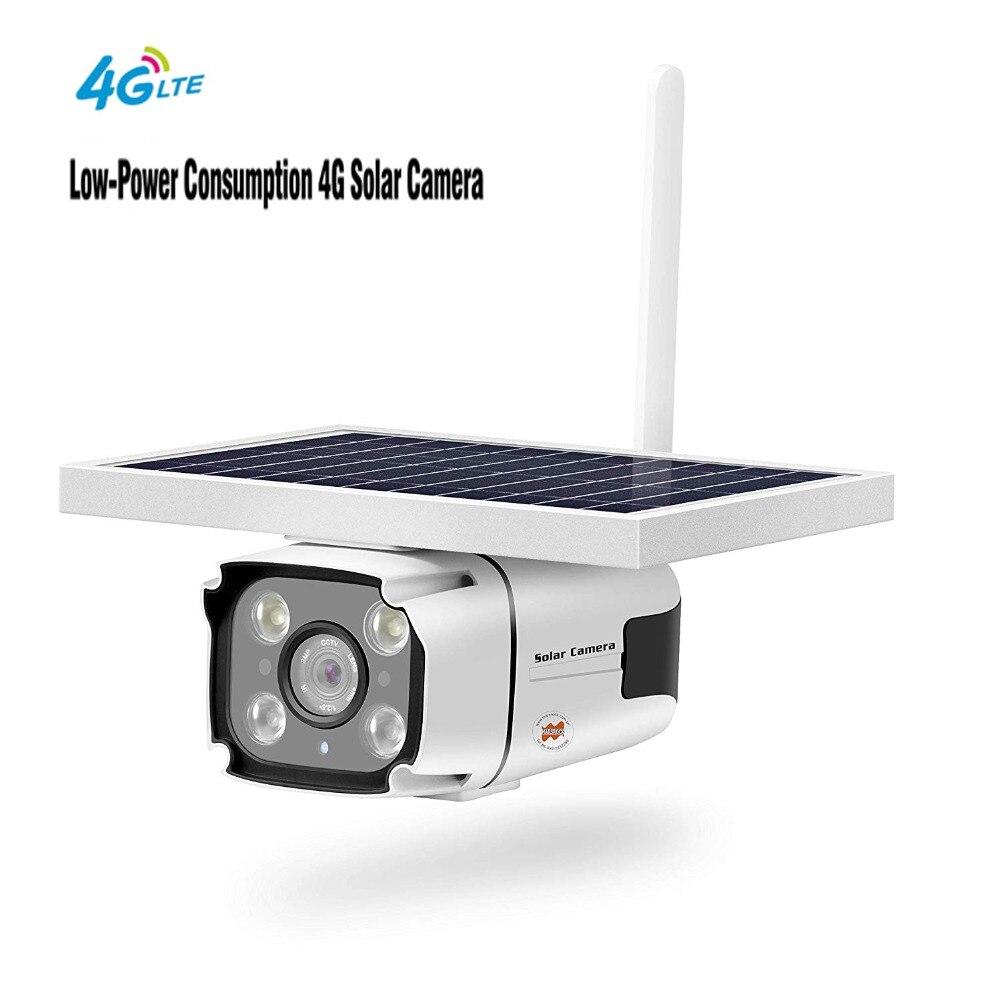 2 MP 1080 P caméra IP solaire extérieure étanche sans fil 4G caméra de sécurité solaire alimenté IR détection de mouvement caméra de Vision nocturne